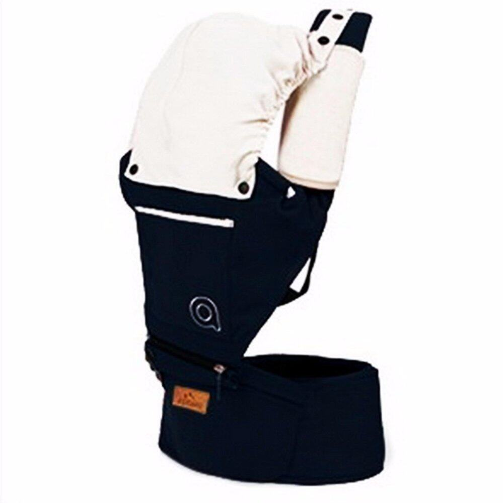 ซื้อที่ไหน ladylazy เป้อุ้มเด็ก(aiebao) hip seat 2 in 1 สีกรมท่า