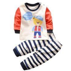 ขาย Lalang Baby Boy G*rl 2Pcs Clothing Set Cartoon Bear Long Sleeve Top Pants Pajamas Underwear Suit Multicolor Intl Lalang ใน จีน