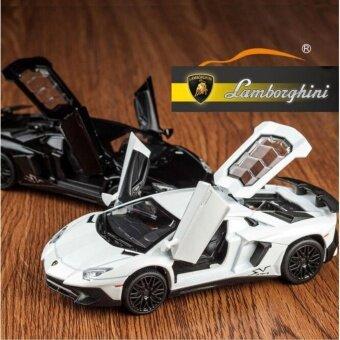 ลัมโบร์กีนี Aventador SV LP750-4 ดึงกลับของเล่นรถ 1:32 โลหะผสม Diecast รถรุ่นเด็กของเล่นของขวัญ