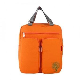 Large Capacity Multifunctional Mummy Nappy Backpack Maternity Baby Diaper Handbags (Orange) - intl