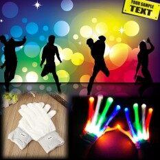 Led เปลี่ยนสีกระพริบถุงมือโครงกระดูกฮาโลวีน Night บาร์ปาร์ตี้เต้นรำ - Intl By Elec Mall.