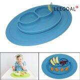 ขาย Leegoal Baby Feeding One Piece Mini Happy Face Plate Blue Intl ใน จีน
