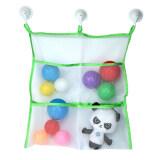 ส่วนลด Leegoal Bath Toy Organizer Large Storage For Baby Kids Toys 3 Bonus Strong Hooked Suction Cups Green White