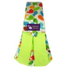 Leegoal สลิงผ้าเด็กและตัดขนสำหรับทารก และให้นม สีเขียว