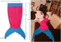 ราคา Leegoal หางนางเงือกผ้าสำหรับการแคมป์เด็กถุงนอน สีแดง และสีน้ำเงิน ที่สุด