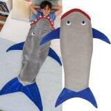 ขาย Leegoal Tails Shark Blanket For Kids Camping Youth Fleece Sleeping Bag Grey Intl เป็นต้นฉบับ