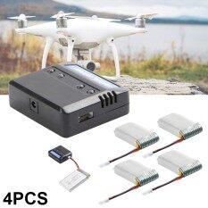 แบตเตอรี่ Lipo  3.7v 1200mah 25c  (4 ชิ้น) + 4 In 1 เครื่องชาร์จแบต สำหรับ Syma X5 X5c X5sc X5sw Quadcopter.