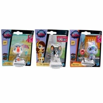 ของเล่น ตุ๊กตา แพท ช็อป Littlest Pet Shop (LPS ARCTIC HARE LPS BOSTON TERRIER LPS PUFFIN) 3 ชิ้น พิเศษ 259 บาท