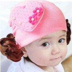 หัวใจรักเด็กวัยหัดเดินทารกเด็กที่คาดผมผมวงที่คาดผมวิกผมหมวก Pk - นานาชาติ.