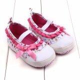 ซื้อ น่ารักฤดูใบไม้ผลิและฤดูใบไม้ร่วงเด็กทารกติดโบว์เจ้าหญิงรองเท้า Prewalker นานาชาติ Unbranded Generic เป็นต้นฉบับ