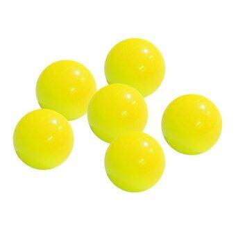 ลูกแก่นเปตอง พลาสติก สีเหลือง ชุด 6 ลูก / petanque