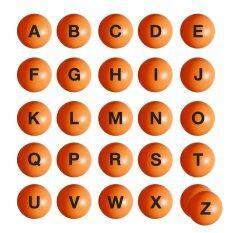 ราคา ลูกบอล สื่อการสอน ตัวอักษร A Z 26 ลูก สีส้ม Plastic Ball Learning Material A Z 26 Pieces Orange Unbranded Generic เป็นต้นฉบับ