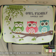 ราคา ม่านบังแดดในรถสำหรับเด็ก Owl Family Unbranded Generic เป็นต้นฉบับ