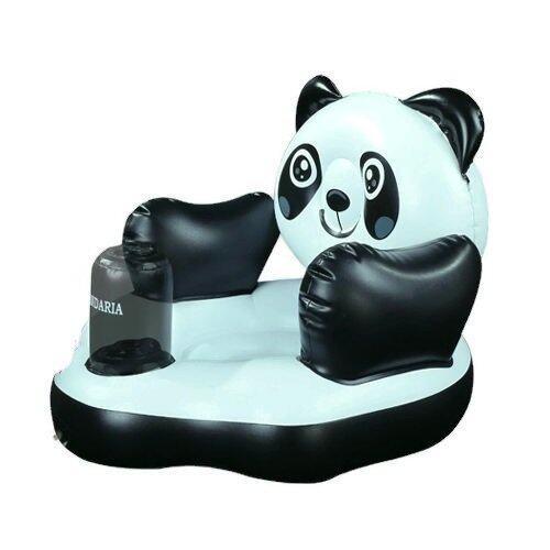 โปรโมชั่น Madamphooh Baby Chair เก้าอี้หัดนั่งเป่าลม โซฟาเด็ก สไตร์ญี่ปุ่น ลายหมีแพนด้า