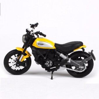 Maisto 1:18 Ducati Scrambler สีเหลือง Die-casts จักรยานรุ่น Collection