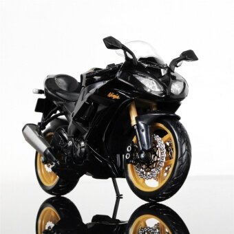Maisto 1/12 Kawasaki Ninja ZX-10R Motorcycle Model Birthday Gift Collection Black and Golden Motorcylce Model Kids - intl