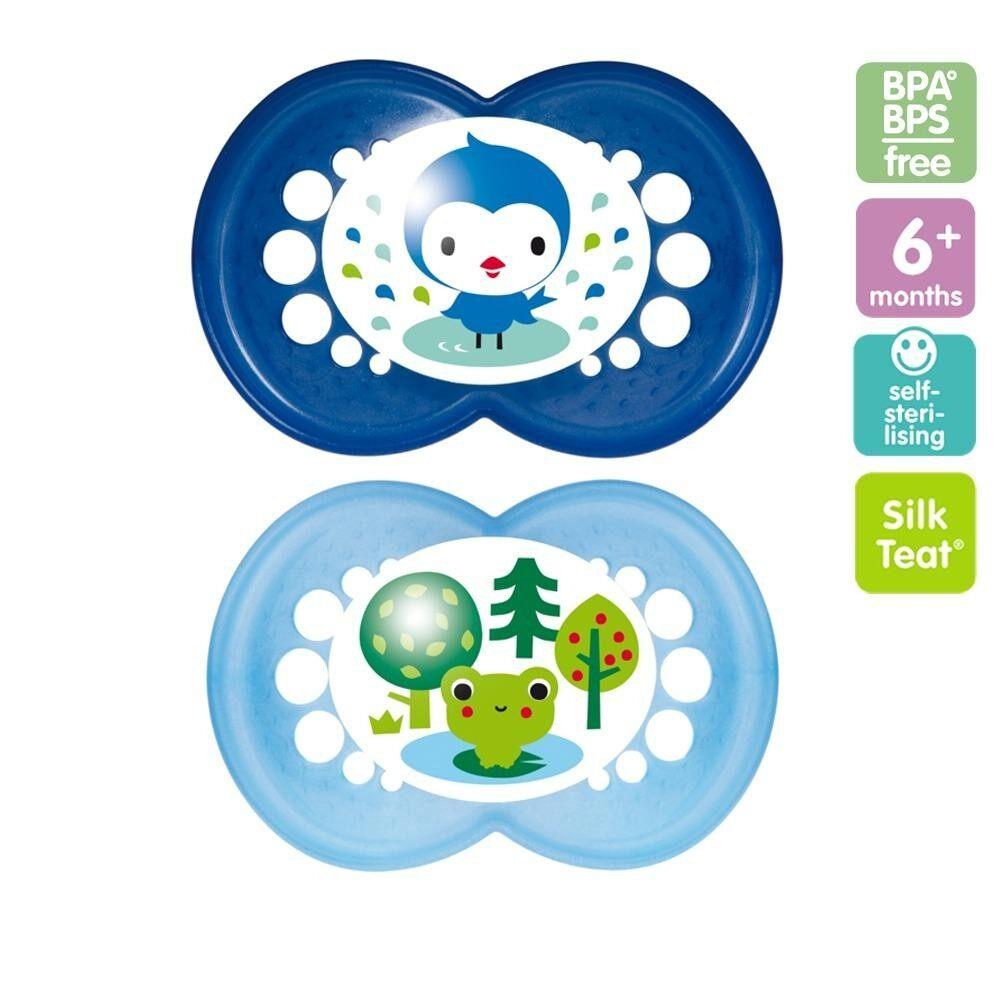 แนะนำ MAM จุกนมหลอก แพ็คคู่ BPA free สำหรับเด็ก 6 เดือนขึ้นไป แพ็คบรรจุ 2 ชิ้น มาพร้อมกล่องใส่ไมโครเวฟ เพื่อนึ่งฆ่าเชื้อโรค (คละแบบ)