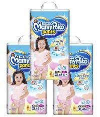 ขาย ซื้อ ออนไลน์ ขายยกลัง Mamy Poko กางเกงผ้าอ้อม รุ่น Extra Dry Skin ไซส์ Xl แพ็ค 3 รวม 138 ชิ้น สำหรับเด็กหญิง