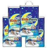 โปรโมชั่น ขายยกลัง Mamy Poko Kids Pants Night Time Xxxl10 แพ็ค 4 สำหรับเด็กชาย