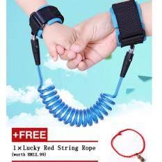 ซื้อ New Year 2 5Meters Child Anti Lost Band Baby Safety Harness Strap Wrist Leash Walking Hand Belt Blue ใหม่ล่าสุด