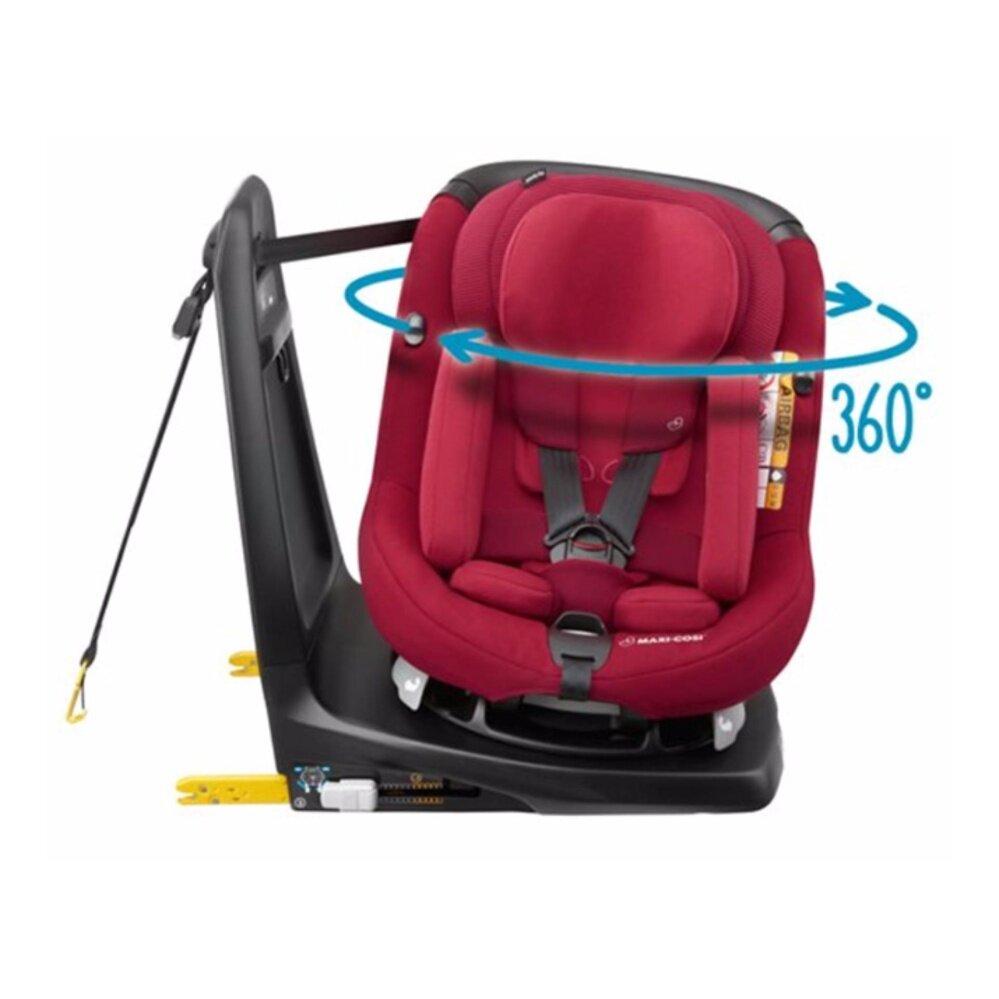 ราคา Maxi-Cosi AxissFix Plus คาร์ซีทยี่ห้อแม็กซี่โคซี่รุ่นเอ็กซิสฟลิกส์ พลัส ที่นั่งบนรถสำหรับเด็กหมุนได้ 360 องศา สีดำกา (0 เดือน - 4 -ปี, 45 - 105 cm, I-SIZE, ISOFIX)