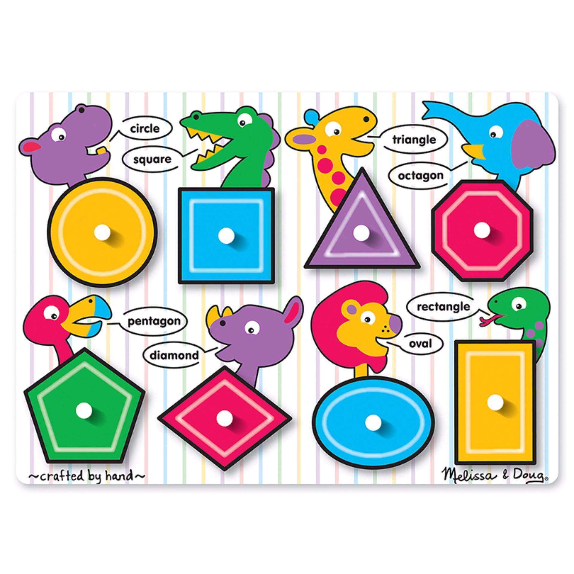 Melissa & Doug Wooden Shapes Peg Puzzle