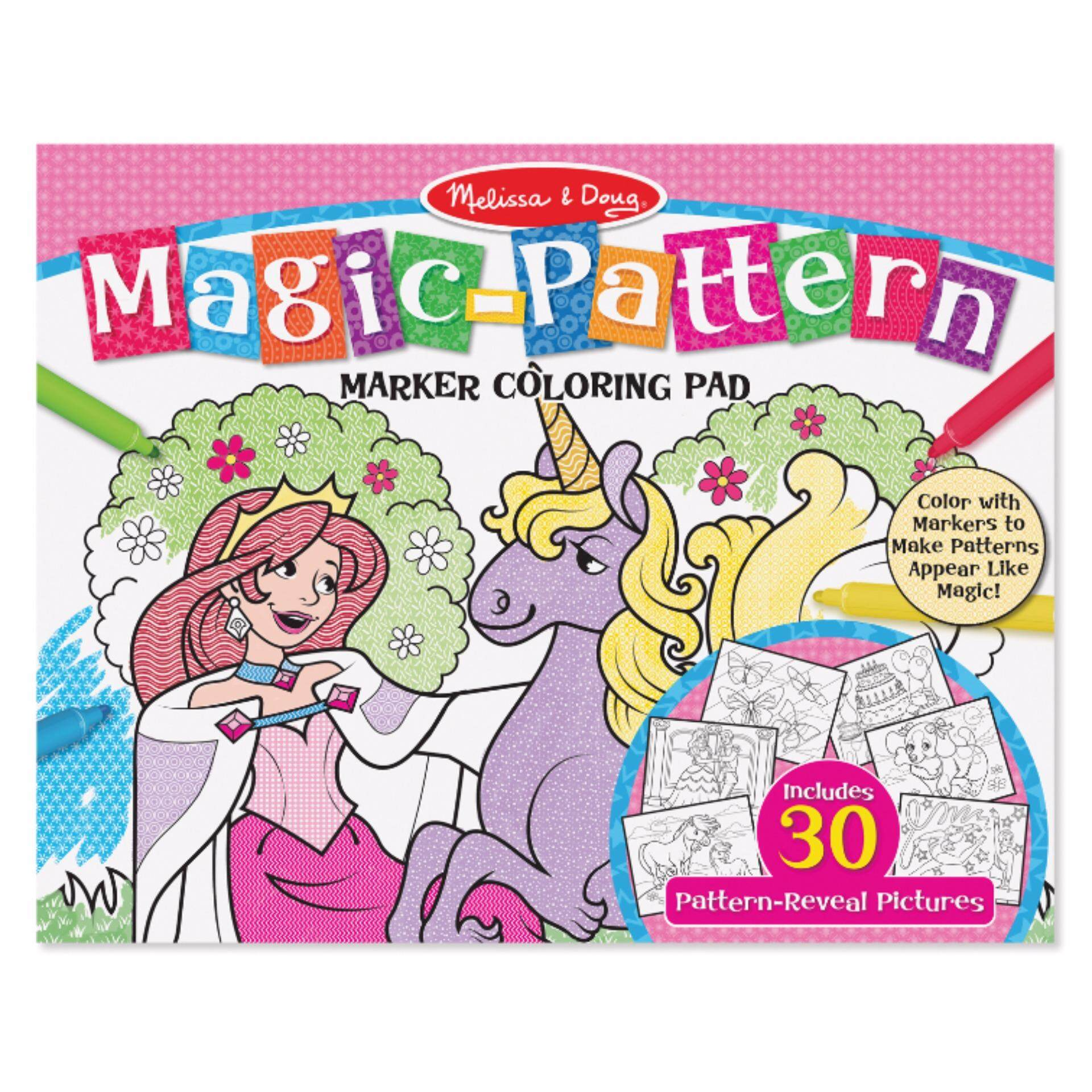 Melissa & Doug Magic Pattern Marker Coloring Pad - Pink