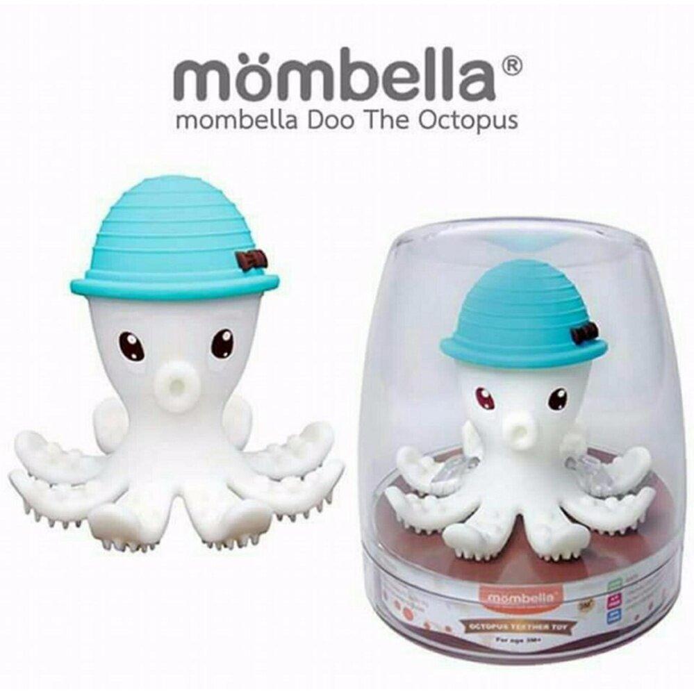 แนะนำ ยางกัดเด็ก ยางกัด Mombella The Doo Octopus ยางกัดปลาหมึก สุดฮอตจากอังกฤษ สีฟ้า
