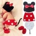 ส่วนลด Moonar Cartoon Adorable Mouse Design Newborn Children Photography Clothing Suits For 6 Month Red Moonar ใน จีน