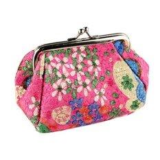Moonar แฟชั่นผู้หญิงน่ารักกระเป๋าสตางค์กระเป๋าสตางค์กระเป๋าใส่เหรียญกระเป๋าสตางค์ดอกไม้กระเป๋า (กุหลาบสีแดง) - นานาชาติ.