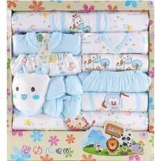 Morestech ชุดของขวัญ สำหรับทารกแรกเกิด 18 ชิ้น สีฟ้า By Morestech.