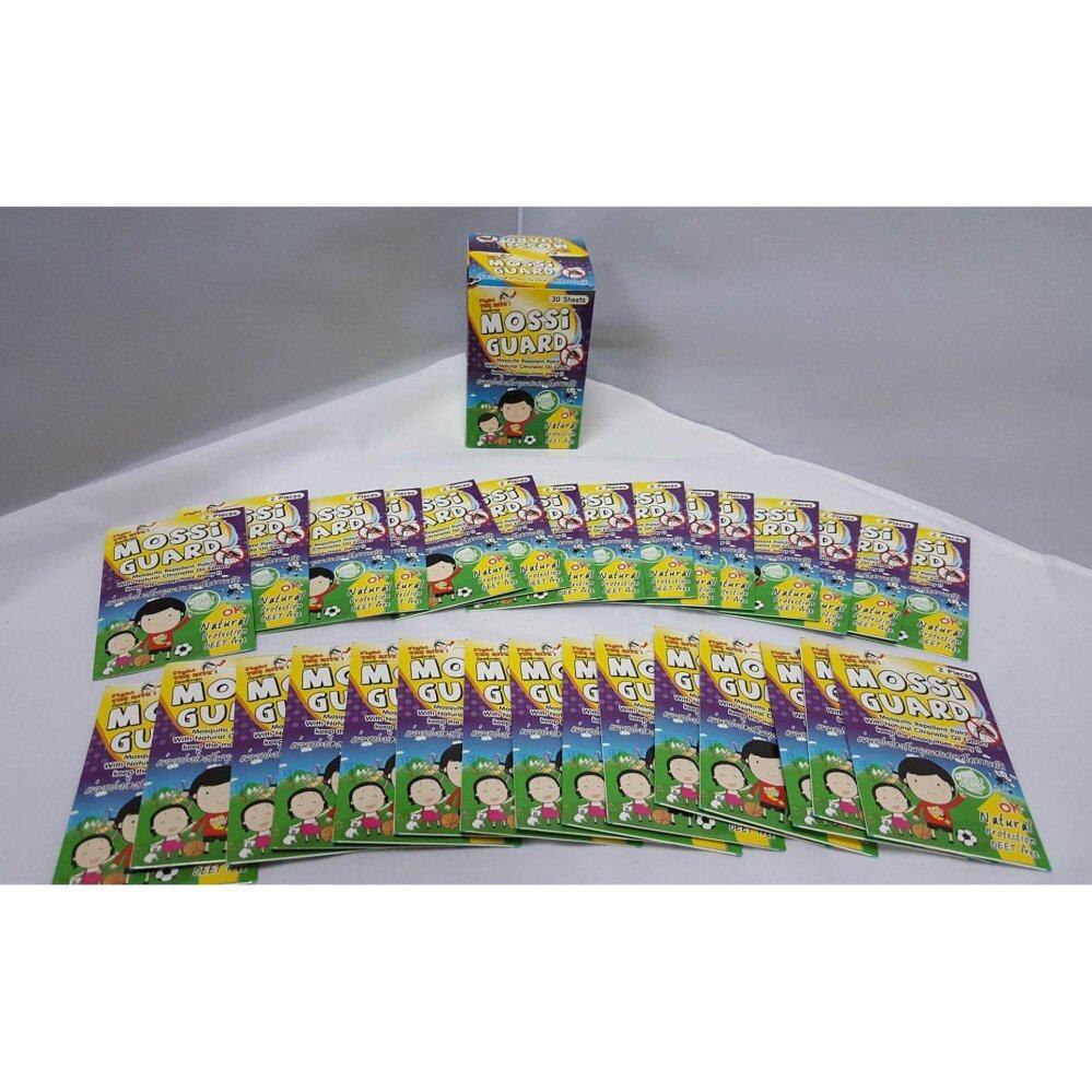 แนะนำ MOSSI Guard แผ่นแปะกันยุงใช้ได้ตั้งแต่เด็ก - ผู้ใหญ่ จำนวน 1 กล่อง 30 ซอง 60 ชิ้น
