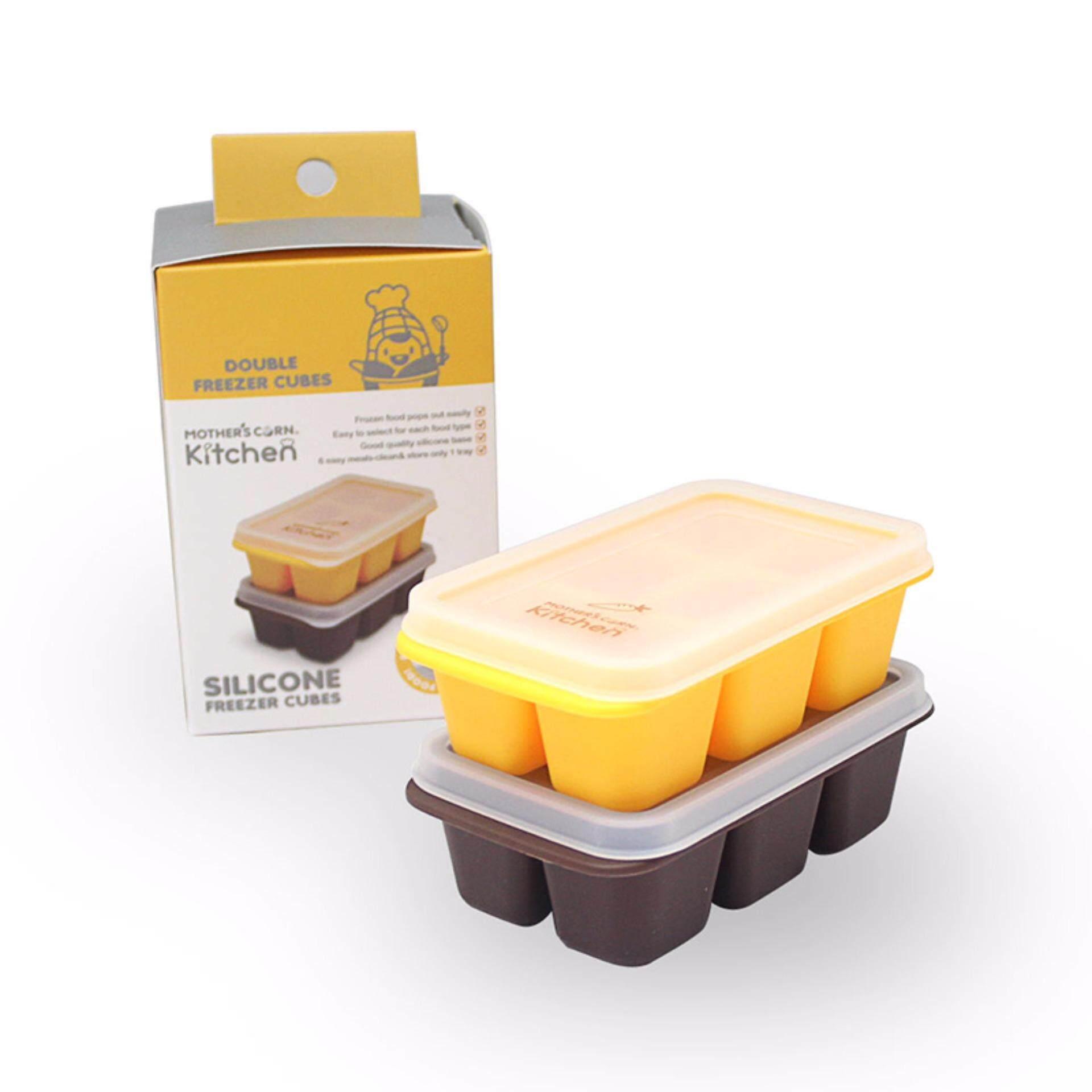 รีวิว ถาดซิลิโคนแช่แข็งอาหารเสริม Mother's Corn Kitchen Silicone Freezer Cubes