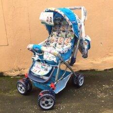 ขาย ซื้อ ออนไลน์ รถเข็นเด็ก My Care ปรับได้ 3 ระดับ สีฟ้า