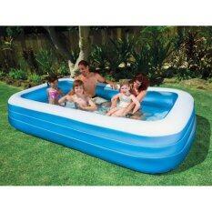 ซื้อ Nanarak 58484 สระว่ายน้ำเป่าลม ขนาด 305X183X56 ซม Intex เป็นต้นฉบับ