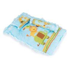 Natur ที่นอนปิคนิค ลายสัตว์ (สีฟ้า) By P&p Baby Shop.