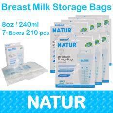 ราคา Natur ถุงเก็บน้ำนมแม่ Breast Milk Storage Bags 210Pcs เป็นต้นฉบับ Natur
