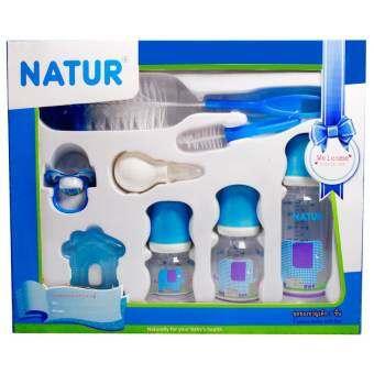 NATUR เนเจอร์ ชุดของขวัญเด็ก7ชิ้น – สีฟ้า-