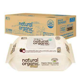 Natural Organic Premium Embossing Baby Wipes (Cap Type, 10 X 80Sheet)
