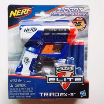 ปืน Nerf N-Strike Elite Triad EX-3 Blaster (Blue)