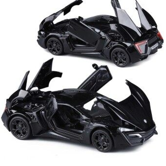 New Arrival 1:32 FastFurious 7 Lykan Hypersport Diecast Model Car with LightSoundsDoor Opening-Black