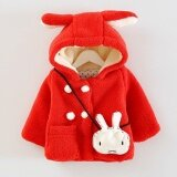 โปรโมชั่น New Spring Autumn Winter Warm Cute Animal Rabbit Ear Hooded G*rl Coat Outwear Baby Girls Clothes Kid Jacket Children Clothing Intl Unbranded Generic