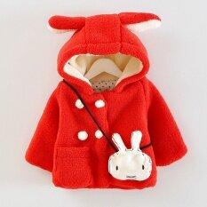ซื้อ New Spring Autumn Winter Warm Cute Animal Rabbit Ear Hooded G*rl Coat Outwear Baby Girls Clothes Kid Jacket Children Clothing Intl ออนไลน์