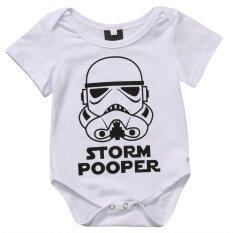 ซื้อ Newborn Baby Boy Girls Cotton Romper Jumpsuit Bodysuit Outfit Clothes 3 6Months Intl ถูก