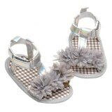 ซื้อ Newborn Baby G*rl Soft Crib Shoes Girls Flat Sandals Anti Slip Prewalker Grey 12Cm Intl ใหม่