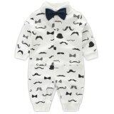 ซื้อ Newborn Cotton Baby Boys Beard Pattern Clothes Baby Rompers Long Sleeve Body Suits Jumpsuits Intl ถูก