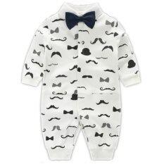 ราคา Newborn Cotton Baby Boys Beard Pattern Clothes Baby Rompers Long Sleeve Body Suits Jumpsuits Intl เป็นต้นฉบับ