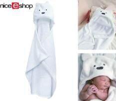 ซื้อ Niceeshop ผ้าห่มมีฮู้ดแบบหูหมีสำหรับเด็กทารก ถูก ใน จีน