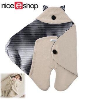 niceEshop Soft Newborn Baby Swaddle Infant Wrap Blanket Sleep Sack (Khaki)