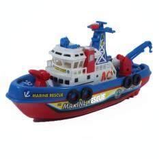 Nicha Toy เรือ ของเล่น ในห้องน้ำ เรือกู้ภัย พ่นน้ำ ใส่ถ่าน ของเล่นในอ่างน้ำ 0619b By Nichatoys.